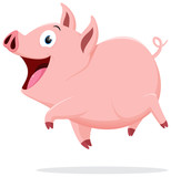 Cute pig cartoon  - 134830213