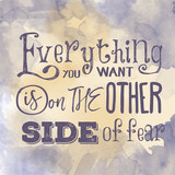 Motivational quote on watercolor background.
