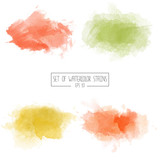 Set of color vector watercolor stains - 134840876