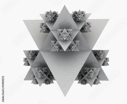 3D illustration of abstract triangular shapes