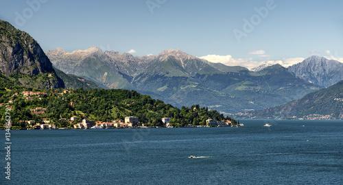 Keuken foto achterwand Groen blauw Lake of Como (Italy)