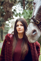 Girl and the horse