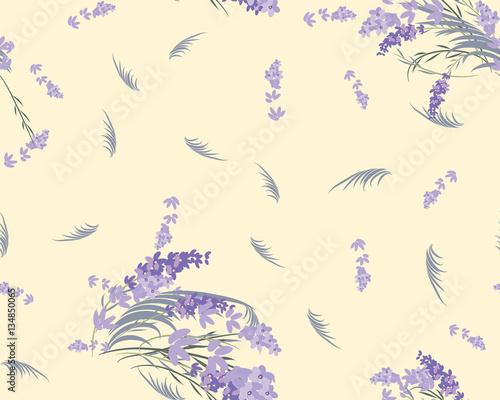 Floral lavender retro vintage background - 134850065