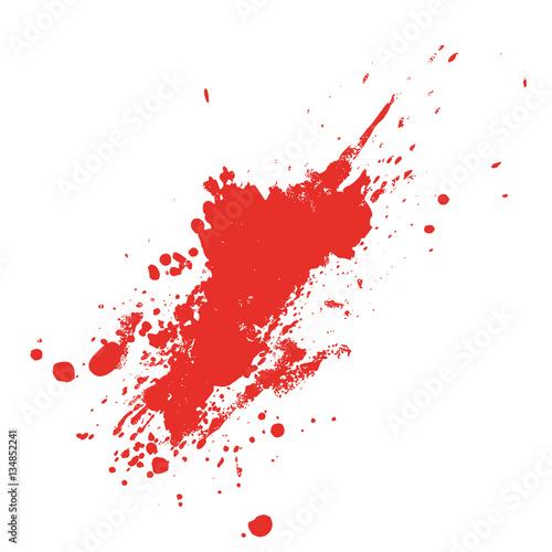 Rote Farbklecks, Blut oder Wein
