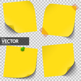 colored sticky notes with vector transparency - 134856068