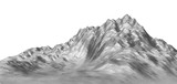 White abstract polygonal mountain