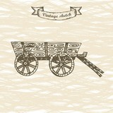 carriage horse sketch. vector illustration
