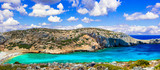 wild crystal beaches of Greece - Kounoupa in Astypalea island