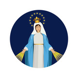 Holy virgin mary icon vector illustration graphic design - 134861632