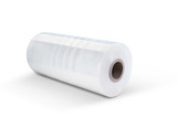 White stretch film at white background - 134863664