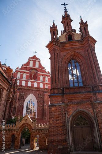 St. Anna's Church in Vilnius, Lithuania. Popular tourist place Poster