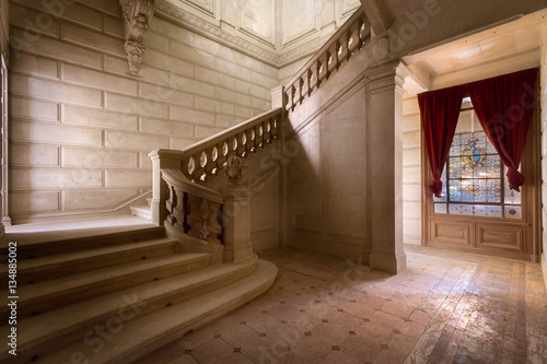 Marmer Staircase in Abandoned Castle.