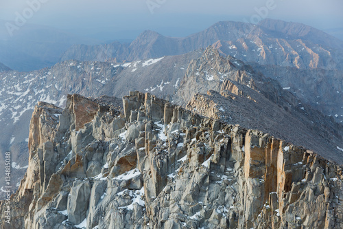 Poster Early morning sunrise on the ridges of Mount Whitney in the California mountains