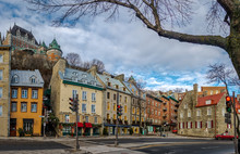 Lower Old Town (Basse-Ville) and Frontenac Castle - Quebec City, Quebec, Canada