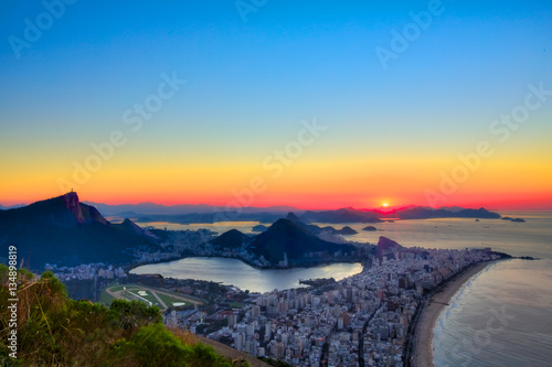 Poster Sunrise in Rio de Janeiro, Brazil