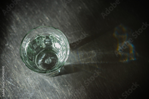 Poster Glass of water on kitchen sink