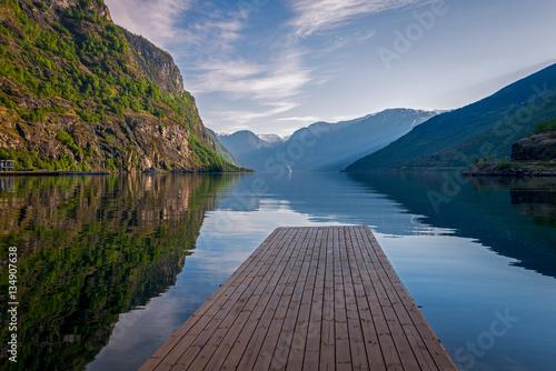 Zdjęcia na płótnie, fototapety na wymiar, obrazy na ścianę : Aurland fjord in Norway