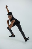 Portrait of dancer practising dance