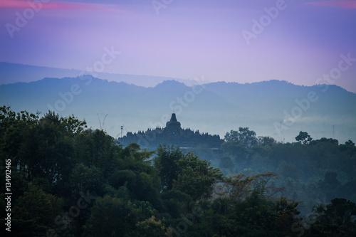 Foto op Plexiglas Indonesië Borobudur sunrise