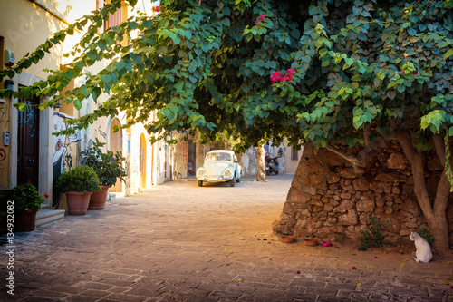 alley in Chania old Town, Crete, Greece