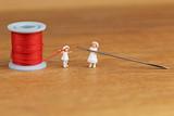 赤い糸と子供たち