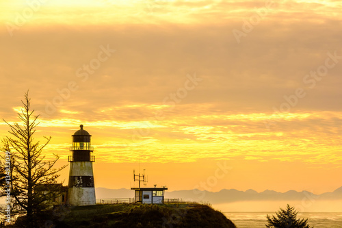Poster Cape Disappointment Lighthouse at sunrise, built in 1856