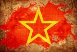 Vintage Red army symbol flag