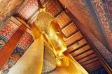 Golden statue of the Reclining Buddha