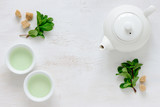 Fresh mint tea background