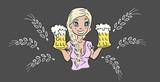 Krijtbord met bier actie