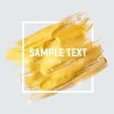 Gold Paint Glittering Textured Art Illustration. Vector Illustra - 134973697