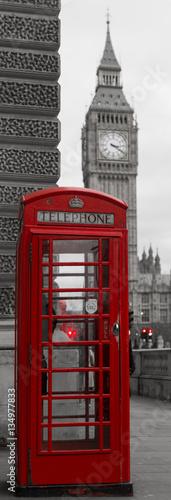 Big ben et les cabines téléphoniques rouges