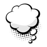 Fototapety Blank comic speech cloud bubble