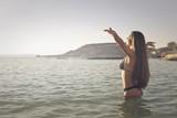 Enjoying the sunshine in bikini