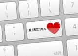 Botón teclado reserva san valentín