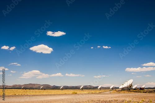 Plexiglas Radio telescope array