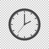 Clock icon, flat design. Vector illustration on isolated background.