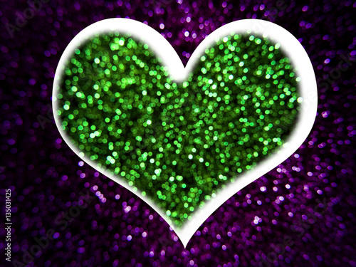 Billede Heart from glitter lights background.