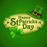 St. Patrick Day green poster