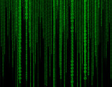 Abstract green technology binary background. Binary Computer Cod