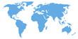 blue world map silhouette