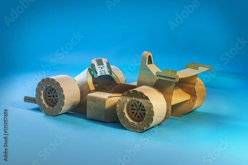Fotobehang Formule 1 cardboard racing car