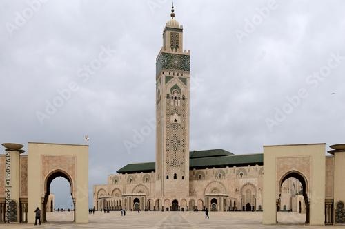 Die Hassan-II.-Moschee in Casablanca Poster