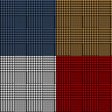 Fototapety Houndstooth geometric plaid seamless pattern set, vector