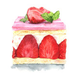Strawberry cake - 135070613