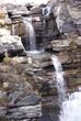 Limestone step waterfalls