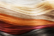 Leinwanddruck Bild - Colorful hair background. Hairstyles and care concept