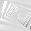 Abstract white 3d spiral corridor