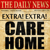 care home, newspaper article text