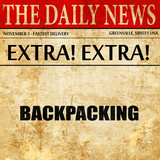 backpacking, newspaper article text